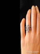Szivecskés cirkon köves gyűrű