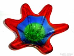 Vastag színes üveg Kínáló-asztalközép
