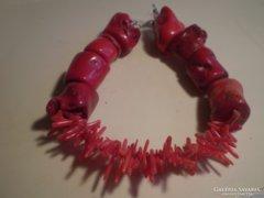 EZÜST szerelékes vörös korallos egyedi karkötő