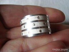 Török kézműves ezüst gyűrű