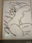 Gus Viktor Sermas amerikai művésztanár tusképe eladó