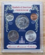 5 db ÉREM KÜLÖNLEGESSÉG, RITKASÁG: Amerika Szimbólumai Ezüst