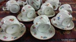 Eladó gyönyörű , ritka,  hullámos Zsolnay teás készlet