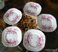 5 db angol süteményes tányér ritkaság