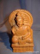 Fából faragott buddha szobor