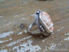 ezüst gyűrű,kámea,nagyon szép !!