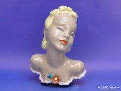 0D076 Komlós kerámia art deco női fej