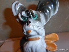 Retro katowicei porcelán éjjeli lámpa