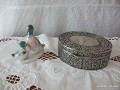Ékszertartó doboz, ezüstözött gyönyörű