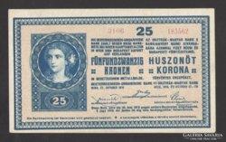 25 korona 1918.  (aUNC)!!!  SIMA HÁTLAP!!! EXTRA SZÉP!!!