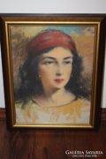 Bálint Gyula festőművész1884-1956 Egyiptomi nő c képe eladó