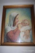 Bálint Gyula 1884-1956 Anya gyermekével c képe eladó