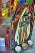 3D. Mária Kis Jézus. Fali, asztali mécsestartós oltár.