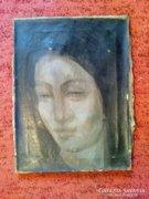 Huszár István Női portré Kék korszakábol