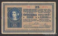 25 korona 1918.  2000 alatti !!!   RITKA!!!