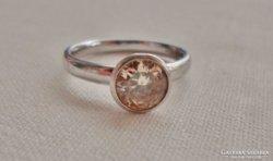 Gyönyörű régi ezüstgyűrű nagy valódi színes církonnal