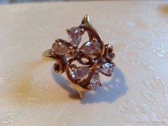 Gyönyörű QVC aranyozott ezüst gyűrű
