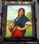Csalány Béla 1879-1948. Nagybányai festőművész festménye.