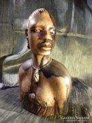 Egy csodaszép egzóta fából készült indián szobor 20 cm