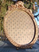 Bieder stílusú aranyozott ovál keret 35x22 cm