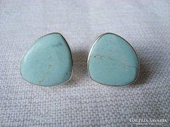 Kék türkiz köves ezüst fülbevaló