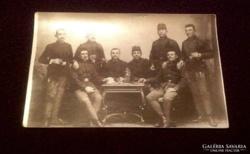 Katona csoport fotó képeslap