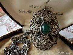 Gyűjteményi ezüst medál lánccal - Mesterjeggyel