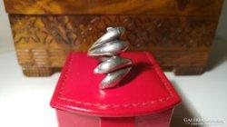 Tömör ezüst delfinpár gyűrű