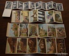 Antik leporelló képeslapok