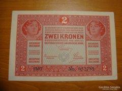 *** HAJTATLAN 1917-es bélyegzés nélküli 2 korona! ***