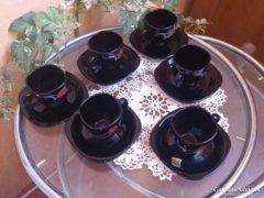 Francia jelzett porcelán kávéskészlet