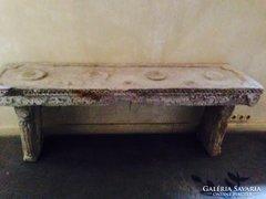 Kőből faragott tibeti konzol asztal régiség