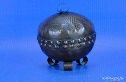 0D376 Régi réz gyűrűtartó bonbonier
