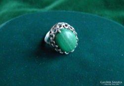 Malachit köves ezüst gyűrű