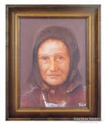 Fejér Csaba : Idős asszony portré
