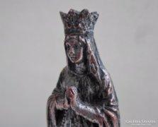 Gyógyító antik ón Lourdesi madonna