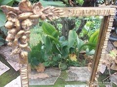 Bieder rózsás tükör aranyozott asztali 29x25 cm
