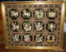 Thai kézi himzésű csillagképek 1m x 1.25m-es - Kalaga -