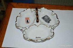 Német porcelán kicsi osztott tál