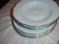 CSeh jelzett aranyszegélyes tányéR 10 DARAB