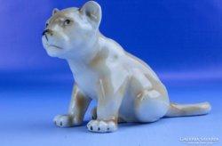 0D835 Régi ROYAL DUX porcelán tigris