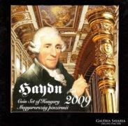 Haydn 2009 Proof forgalmi sor dísztokban ezüsttel