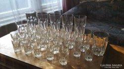 25 darabos üvegpohár készlet az 50-es évekből!