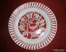Hollóházi fali tányér 24 cm
