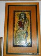 Tűzzománc -LŐRINCZ VITUS-Madonna Jézussal