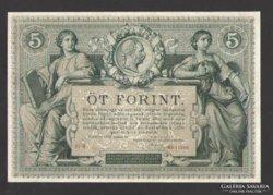 5 forint/gulden 1881.  GYÖNYÖRŰ!!  RITKA!!!
