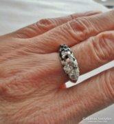 Gyönyörű színes církonköves ezüstgyűrű