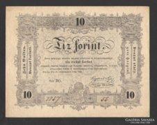 10 forint 1848. EF+++!!!  GYENGÉN HAJTOTT!!! GYÖNYÖRŰ!!!