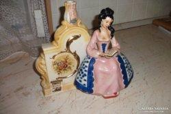 Antik kerámia figurás gyertyatartó, italtartó,váza eladó!