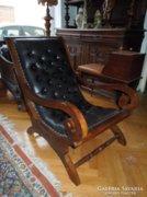 Bőr cesterfild relax fotel